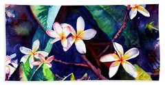Blooming Plumeria Bath Towel