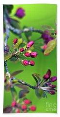 Blooming Spring Poetry Hand Towel