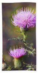 Blooming Thistle Bath Towel
