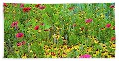 Blooming Wildflowers Bath Towel