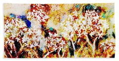 Hand Towel featuring the painting Blossom Morning by Winsome Gunning