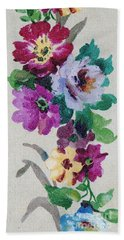 Bath Towel featuring the mixed media Blossom Series No.6 by Writermore Arts