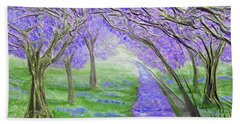 Blossoms Bath Towel by Angela Stout