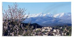 Blossoms With A View Bath Towel
