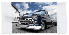 Blue 57 Stepside Chevy Bath Towel
