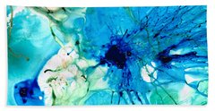 Blue Abstract Art - A Calm Energy - By Sharon Cummings Hand Towel