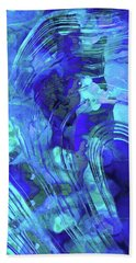 Bath Towel featuring the painting Blue Abstract Art - Reflections - Sharon Cummings by Sharon Cummings