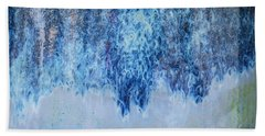 Blue Abstract One Hand Towel