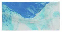 Hand Towel featuring the painting Blue Abyss by Nikki Marie Smith