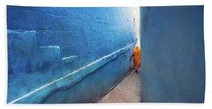 Blue Alleyway Hand Towel