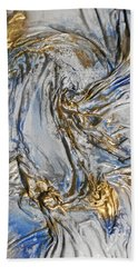 Blue And Gold 3 Hand Towel
