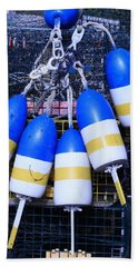 Blue And Gold Bouys Hand Towel