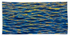 Blue And Gold Hand Towel