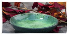 Blue And Green Shallow Bowl Hand Towel