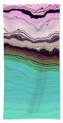 Bath Towel featuring the digital art Blue And Lavender by Matt Lindley