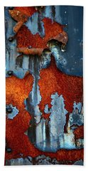 Hand Towel featuring the photograph Blue And Rust by Karol Livote