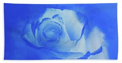 Blue And White Arising Bath Towel