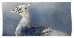 Blue And White Beauty Bath Towel by Kathy Russell