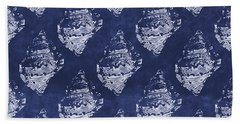 Blue And White Seashells 1- Art By Linda Woods Hand Towel