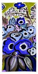 Blue Anemones Bath Towel