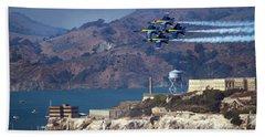 Blue Angels Over Alcatraz Bath Towel