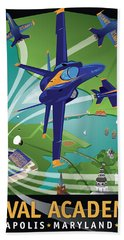 Blue Angels Over Usna Bath Towel