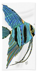 Blue Anglefish Bath Towel