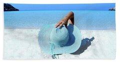 Blue Beach Bath Towel