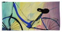 Blue Bicycle Hand Towel