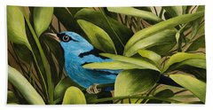 Blue Bird In Branson Bath Towel