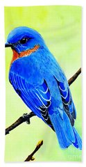 Blue Bird King Hand Towel