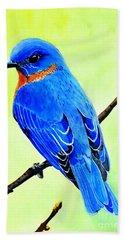 Blue Bird King Hand Towel