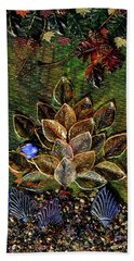 Blue Bird Singing In An Autumn Tree Hand Towel by Donna Blackhall