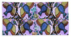 Blue Birds Bath Towel