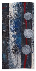 Blue Black Collage Hand Towel
