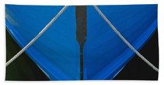 Vintage Old Blue Wooden Boat Bow Bath Towel