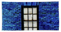 Bath Towel featuring the digital art Blue Brick by Robert Geary