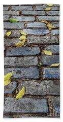 Blue Bricks With Yellow 2 Hand Towel