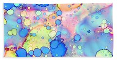 Blue Bubble Gum Pop Hand Towel by Patricia Lintner