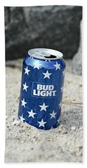Blue Bud Light Bath Towel