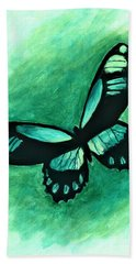 Blue Butterfly  Hand Towel