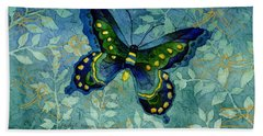 Blue Butterfly Hand Towel
