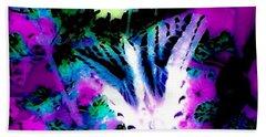 Blue Butterfly Bath Towel by Jennifer Lake