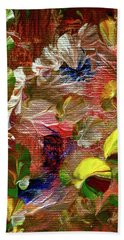 Blue Butterfly Jungle Hand Towel