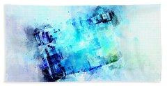 Blue Canvas Hand Towel