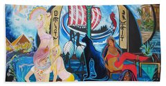 Five Celestial Celebrations                                        Blaa Kattproduksjoner  -  Hand Towel