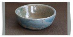 Blue Ceramic Drippy Bowl Bath Towel by Suzanne Gaff