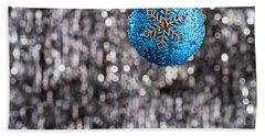 Blue Christmas Bath Towel by Ulrich Schade