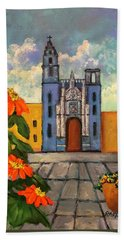 Blue Church   Iglesia Azul Hand Towel