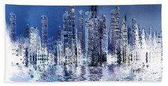 Blue City Hand Towel by Stuart Turnbull